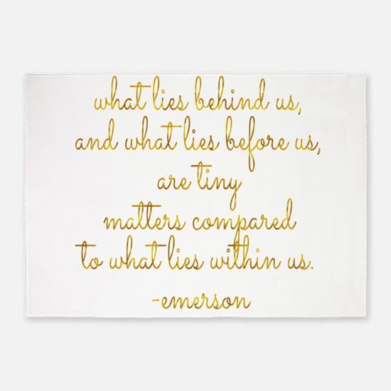What Lies Within Us Emerson Gold Fa 5'x7'Area Rug