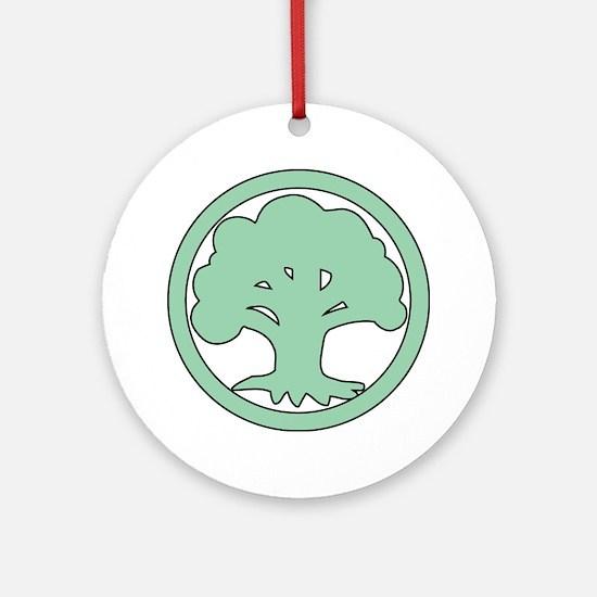 Unique Chaos symbol Round Ornament