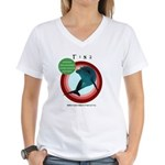 Dolphin Tina Women's V-Neck T-Shirt