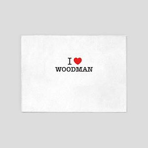 I Love WOODMAN 5'x7'Area Rug