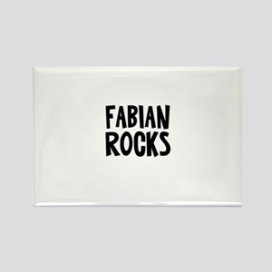 Fabian Rocks Rectangle Magnet