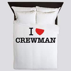 I Love CREWMAN Queen Duvet