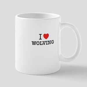 I Love WOLVING Mugs