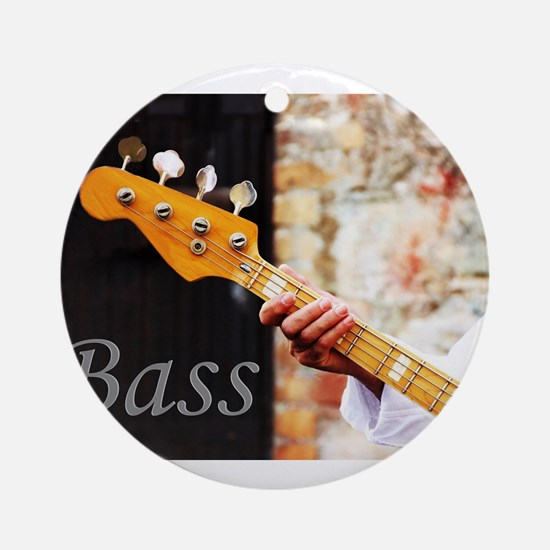 Bass Guitar Round Ornament