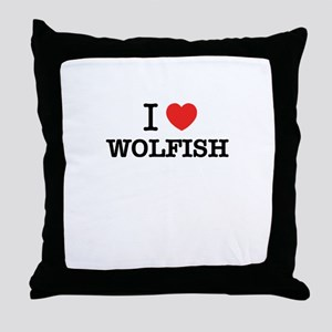 I Love WOLFISH Throw Pillow