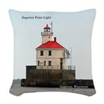 Superior Point Light Woven Throw Pillow