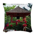 Enger Tower Japanese Peace Bell Woven Throw Pillow
