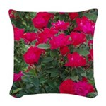Roses Woven Throw Pillow