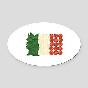 Italian Food Oval Car Magnet