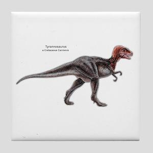 Tyrannosaurus Dinosaur Carnivore Tile Coaster