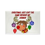 Christmas without my Airman Rectangle Magnet (100