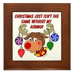 Christmas without my Airman Framed Tile