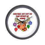 Christmas without my Airman Wall Clock