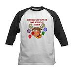 Christmas without my Airman Kids Baseball Jersey