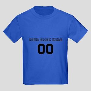 Personalized Baseball Kids Dark T-Shirt