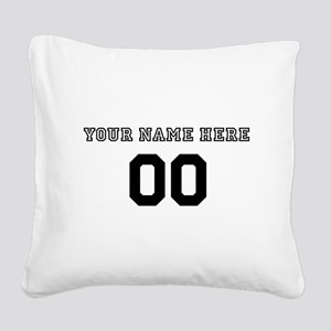 Personalized Baseball Square Canvas Pillow