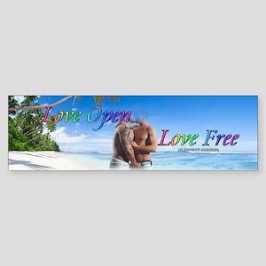 Two Men Kissing on the Beach Bumper Sticker