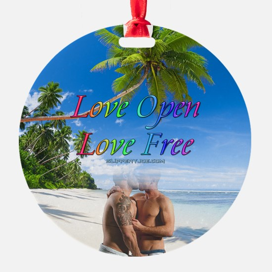 Love Open Love Free Two Men Kissing on the Beach O