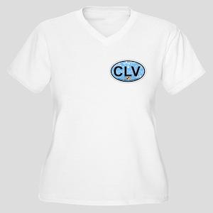 Oceanside - Calif Women's Plus Size V-Neck T-Shirt