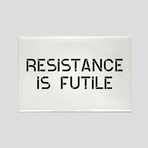 Resistance Futile Rectangle Magnet