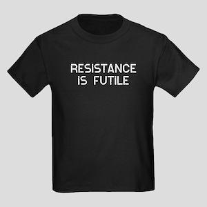 Resistance Futile Kids Dark T-Shirt