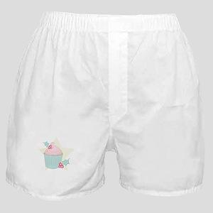 Christmas Cupcake Boxer Shorts