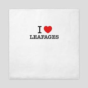 I Love LEAFAGES Queen Duvet