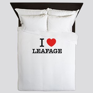 I Love LEAFAGE Queen Duvet