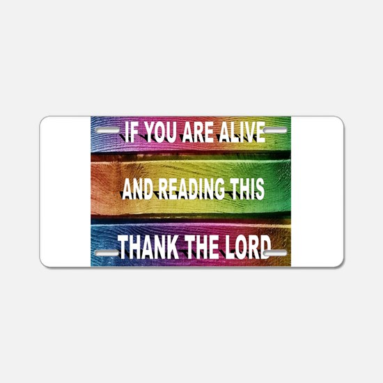 THANK YOU LORD Aluminum License Plate