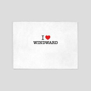I Love WINDWARD 5'x7'Area Rug