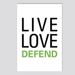 Live Love Defend Postcards (Package of 8)