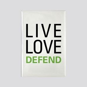 Live Love Defend Rectangle Magnet