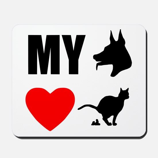 My Dog Hearts Poop Mousepad