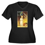 Halloween 53 Women's Plus Size V-Neck Dark T-Shirt