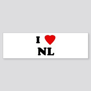 I Love NL Bumper Sticker