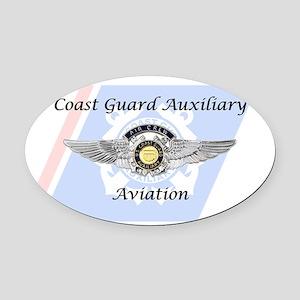 Coast Guard Auxiliary Aviation Oval Car Magnet
