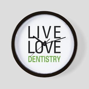 Live Love Dentistry Wall Clock