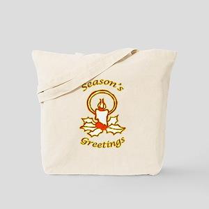 Warm Christmas Candle Tote Bag