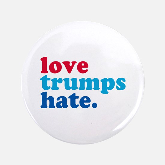 "Love Trumps Hate 3.5"" Button (10 pack)"