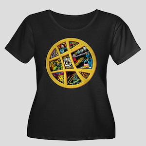 Doctor S Women's Plus Size Scoop Neck Dark T-Shirt