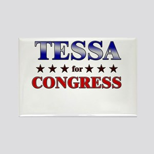 TESSA for congress Rectangle Magnet