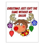 Christmas without my Sailor Small Poster