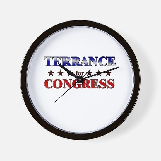 TERRANCE for congress Wall Clock