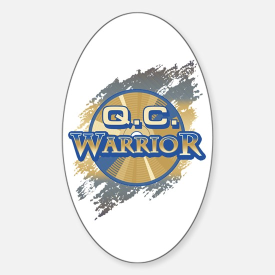 """Q.C. Warrior"" Oval Decal"