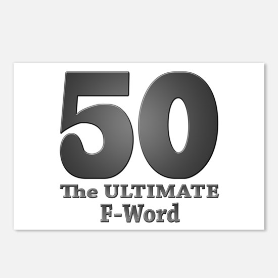 50: The ULTIMATE F-Word (bw) Postcards (Package of