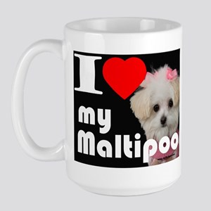 NEW I LOVE My Maltipoo Large Mug