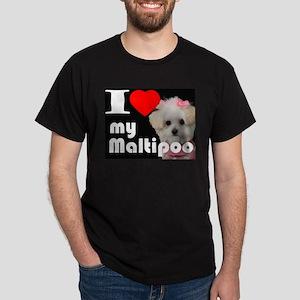 NEW I LOVE My Maltipoo Dark T-Shirt