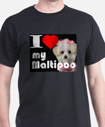 NEW I LOVE My Maltipoo T-Shirt