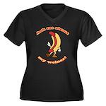 Ask Me Weiner Women's Plus Size V-Neck Dark T-Shir