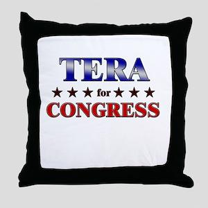 TERA for congress Throw Pillow